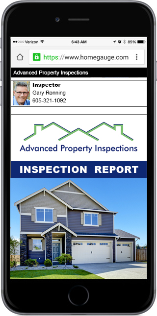 Smartphone showing a digital home inspection report